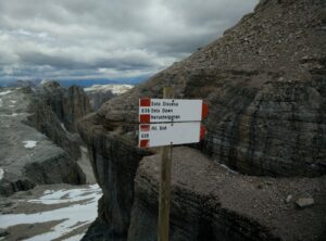 Piz Boe Trail - The only down path