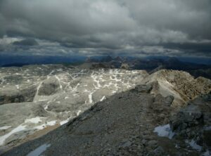 Piz Boe Trail - View from the peak