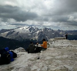 Piz Boe Trail - View from the top