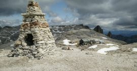 Piz Boe Trail – Rifugio Boe lies beneath the peak