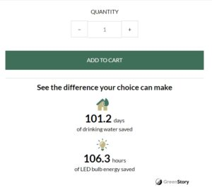 Wama's website tells how much saved water and energy