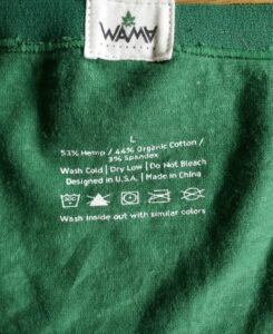Wama Hipsters - Washing Instructions