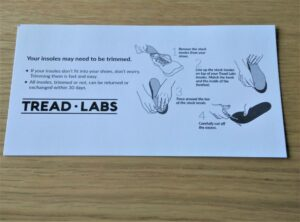 Tread Labs Pace Insole - The Pace insole can be trimmed for good fit