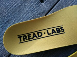 Tread Labs Dash Insole: Logo printed on the polyester lining of the top cover