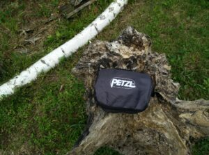 Petzl Scorpio Via Ferrat Set: Packed in the pouch it's super small