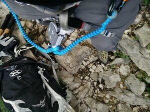 Petzl Scorpio Via Ferrat Set: Attaching the set to the harness is a bit annoying