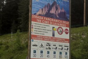 Tre Cime di Lavaredo: Road toll depends on type of your vehicle
