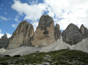 Tre Cime di Lavaredo: The three peaks from north-east