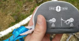 Petzl Scorpio Via Ferrat Set: Tear out webbing is safely stored in the pouch