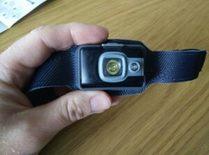 BioLite Headlamp 200: Two LEDs. one white and one red