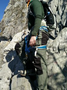 CimAlp Laos Hiking Pants: The pants were great for via ferrata trails due to stretchy fabric which provides good freedom of movement