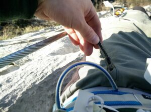 CimAlp Laos Hiking Pants: Zippers of hand pockets have pull loops so it's easy zip/unzip the pocket