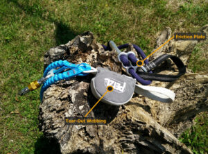 Via Ferrata Sets: Tear-out webbing VS friction metal plate