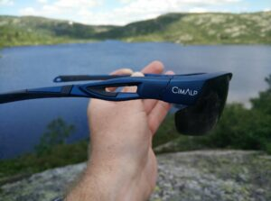 CimAlp Helium Sunglasses: The lens is extended at the bottom corners for extra coverage