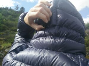 Dark Peak Nessh Down Jacket: The adjustable hood fits perfectly