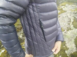Dark Peak Nessh Down Jacket: Baffles on the side