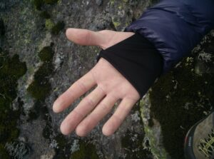 Dark Peak Nessh Down Jacket: Wrist gaiters