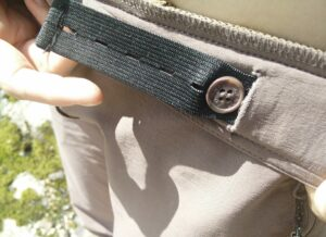 CimAlp Interstice Light Hiking Pants - adjust the width of the waist with the internal elastic belt