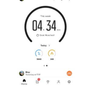 Suunto App: The home section in the weekly view