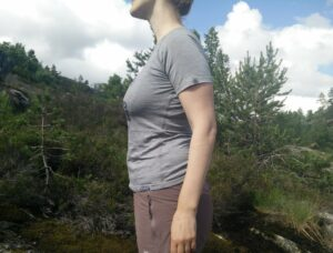 Lasting Merino 160 Back t-shirt - notice the pull around arm hole