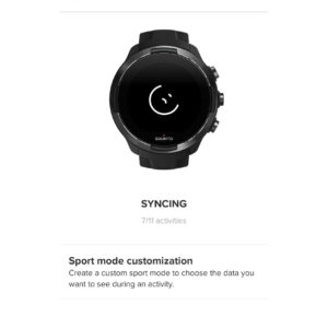 Suunto App: In the top bar you can trigger the sync
