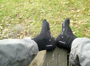 Lasting WLS Hiking Merino Socks: Not much cushioning