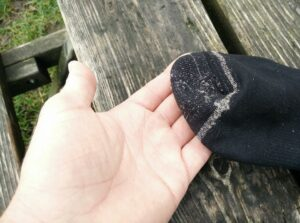 Silverlight Hiking Socks: Comfortable seams in the toes area