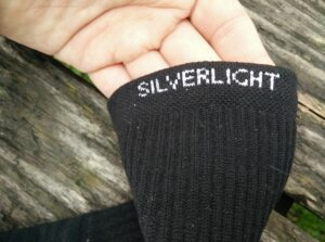 Silverlight Hiking Socks: Elastic cuffs