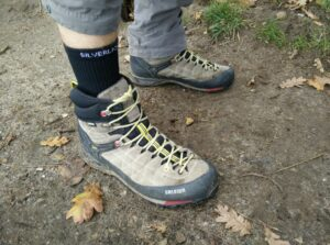 Silverlight Hiking Socks: Wearing the socks on trails