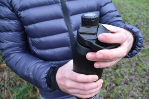CamelBak Chute Mag Vacuum Bottle - coated surface makes it easier to handle the bottle
