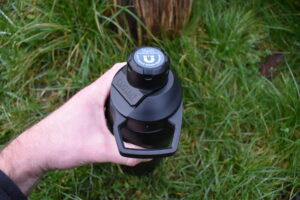 CamelBak Chute Mag Vacuum Bottle - handle of cap can be used to clip it onto your backpack with carabineer