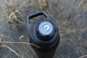 CamelBak Chute Mag Vacuum Bottle - some heat does escape as the cap gets warm when filled with hot fluid