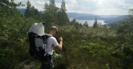 Gjuvvatnet Hiking Trail – weather got better before descending down to the lake