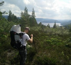 Gjuvvatnet Hiking Trail - weather got better before descending down to the lake
