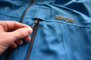Sherpa Makalu Jacket: The fabric is soft to the touch and zippers robust