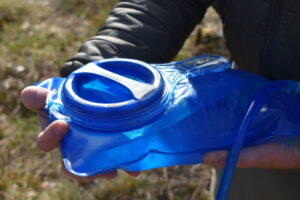 CamelBak Crux Reservoir: Hook for attaching the hydration bladder in the hydration sleeve