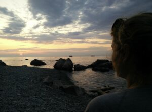 Hiking as a couple - a first date hiking along the Adriatic coast