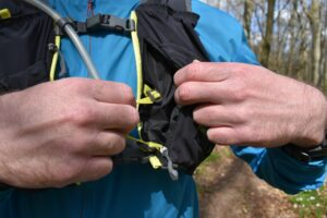 Nathan VaporAir 2.0 Hydration Vest: By pulling these straps you bring the vest closer to your body