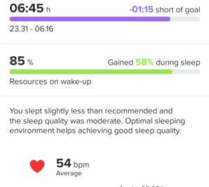 The watch detected that my sleep wasn't exactly great