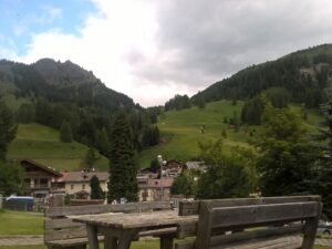A look on downtown Arabba - a great place for a hiking holiday in the Dolomites