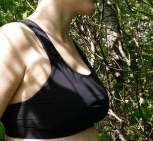A sports bra should be snug and hug your breasts without squeezing them