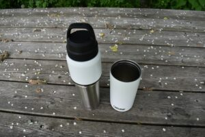 CamelBak MultiBev Bottle: When the cup is detached the bottle becomes unstable