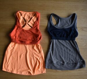 The built-in bra in a tank top is usually a compression bra