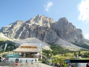 You can reach multiple destinations in the Dolomites by bus