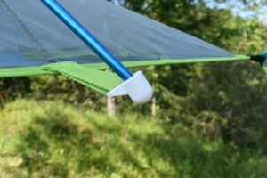 Tentsile UNA Hammock Tent: Attaching the pole is easy