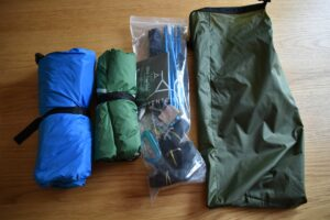 Tentsile UNA Hammock Tent: The stuff sack and what's in it