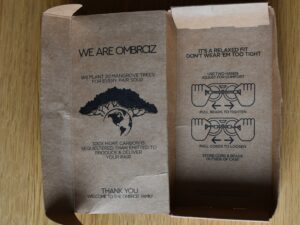 Ombraz Sunglasses - fitting instructions printed inside box