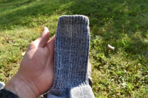 Thorlos Moderate Cushion Crew LTH socks are made of quite dense and thick material